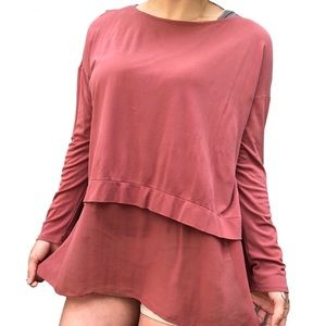 Eileen Fisher 100% Silk  Double Layer Top